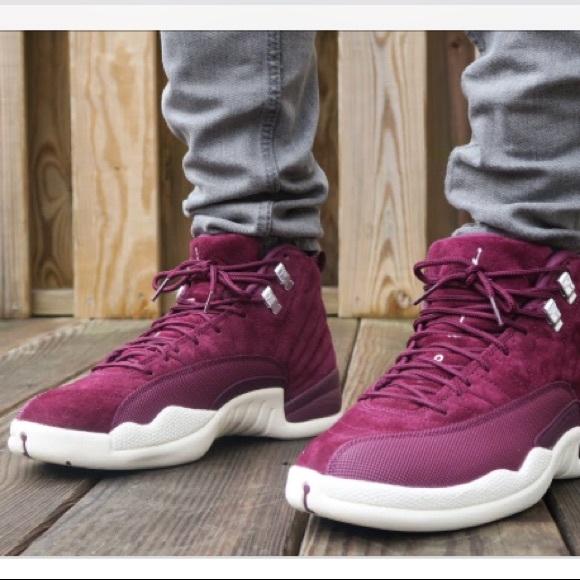 05af74cebec Jordan Shoes | 12 Retro Bg Bordeauxsail Silver Sz 5 Y | Poshmark